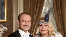 Herečka Pavla Tomicová s tanečným partnerom Markom Dědíkom.