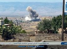 Syria, idlib, dym, výbuch, nálet, útok