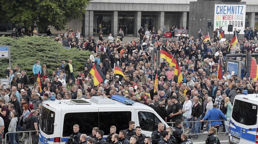 Nemecko Chemnitz muž zabitie protesty