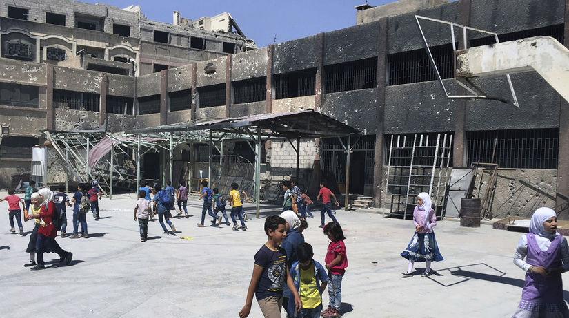 Sýria, škola, deti