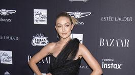 Topmodelka Gigi Hadid na akcii magazínu Harper´s Bazaar v New Yorku.