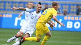 Ukrajina futbal LN Slovensko hamšík