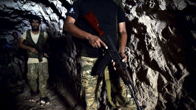 sýria, idlib, vojaci, jaskyňa, ozbrojenci,...