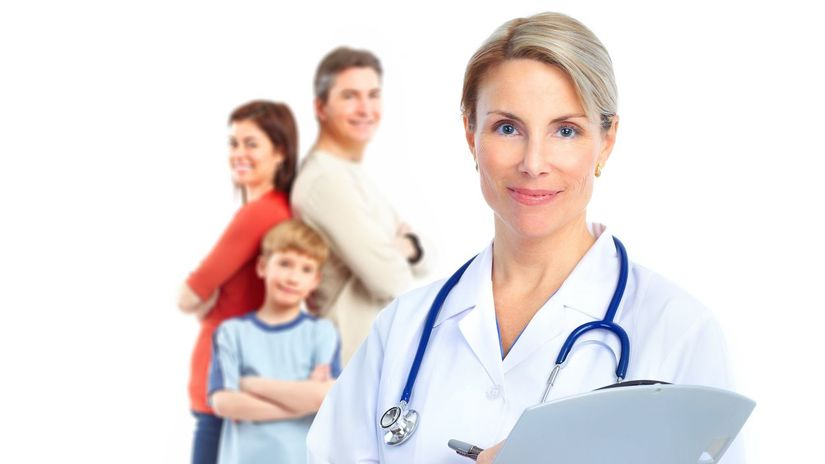lekárka, doktor, pacienti, zdravie