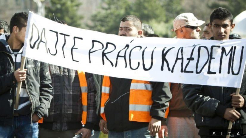 rómovia, práca, demonštrácia