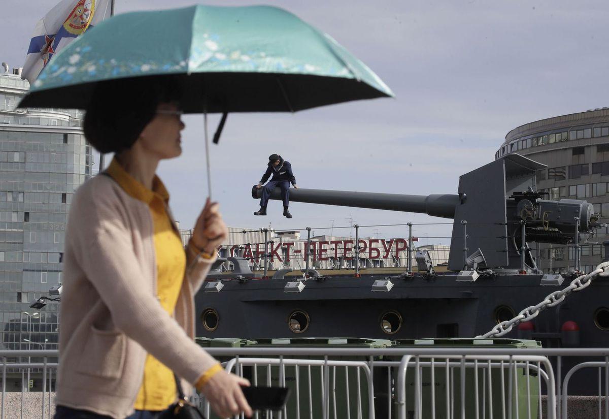 Rusko, loď, námorník, dáždnik