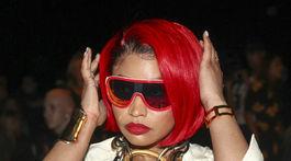 Raperka Nicki Minaj na prehliadke značky Monse v New Yorku.