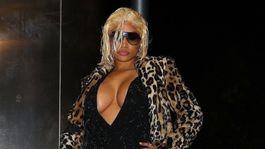 Raperka Nicki Minaj takto vyrazila na akciu pod záštitou značky Tommy Hilfiger.