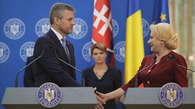 Rumunsko, slovensko, peter pellegrini, viorica...
