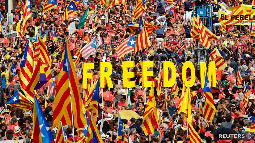 Španielsko, katalánsko, pochod, nezávislosť