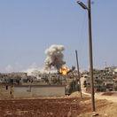 Syria, výbuch, utok, nálet, bombardovanie