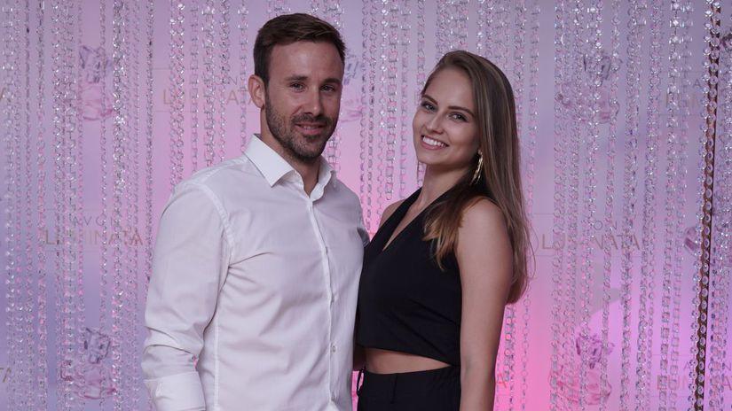 Herec Marek Fašiang s priateľkou Terezou...