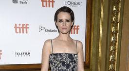 Herečka Claire Foy na premiére filmu Prvý človek.