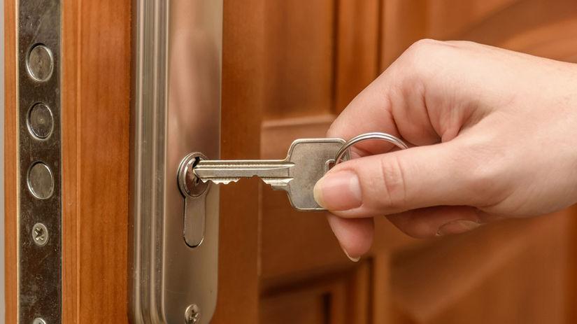 zámok, kľúč, dvere
