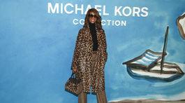 Bývalá topmodelka Iman pred prehliadkou Michaela Korsa.