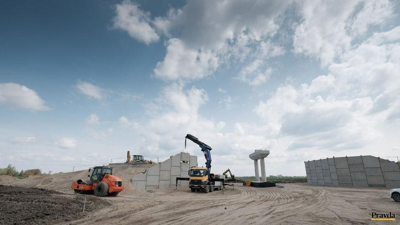 obchvat D4R7 výstavba, stavba, bratislava,...