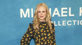 Herečka Nicole Kidman pred prehliadkou dizajnéra Michaela Korsa v New Yorku.