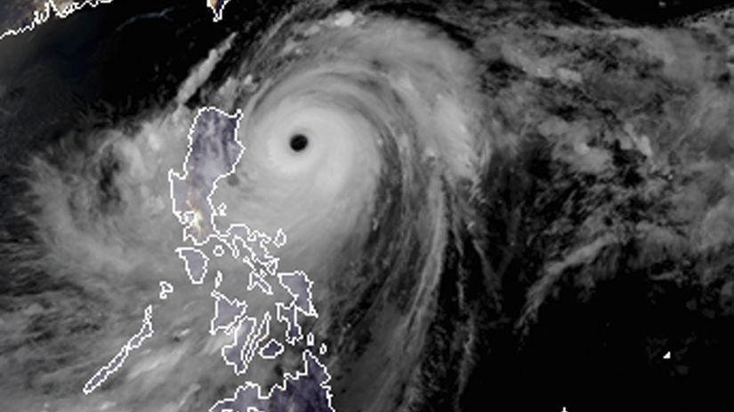 filipíny ázia tajfún Mangkhut