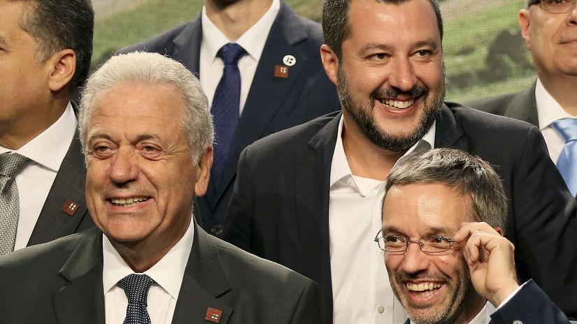 Salvini Kickl Avramopoulos Viedeň migrácia
