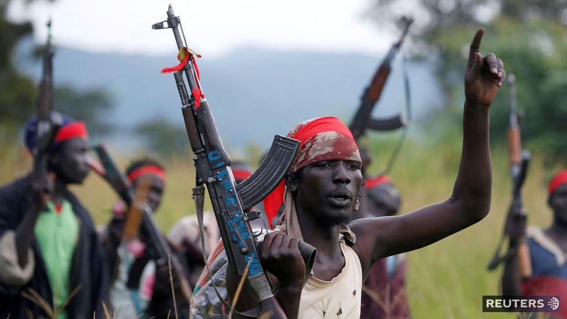 južný sudán, afrika, bojovníci