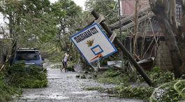 Filipíny počasie tajfún Mangkhut pevnina zasiahnutie
