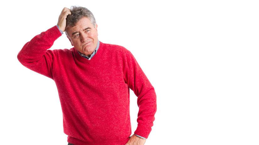 muž, dôchodca, dilema, dôchodok