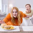 hlad, cholesterol, obezita, jedlo, prejedanie