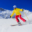 lyžiar, zima, svah, lyžovanie, lyže, šport