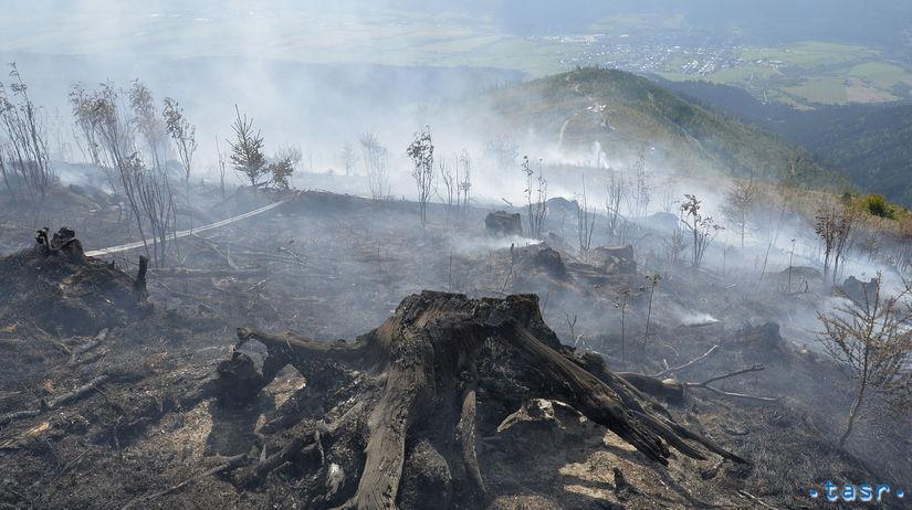 HaZZ požiar les Polomka hasiči vrtuľníky