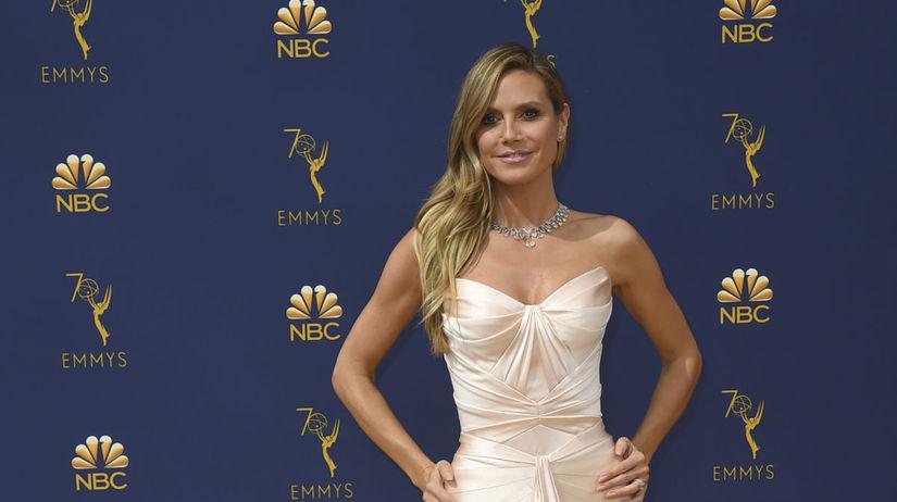 Heidi Klum prišla v kreácii Zac Posen.