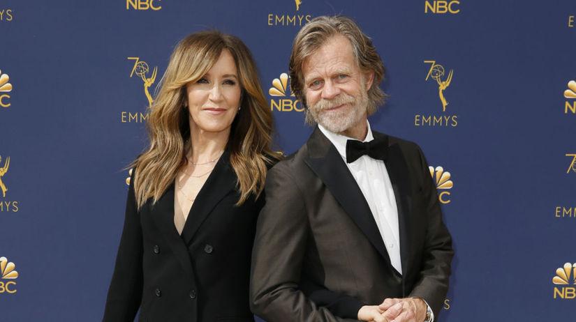 Herečka Felicity Huffman a jej manžel William...