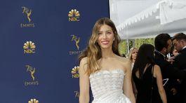 Herečka Jessica Biel v kreácii Ralph & Russo Haute Couture.