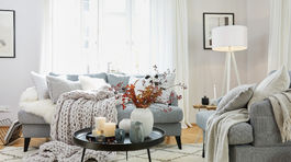 tewtílie, obývačka