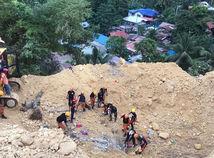 Filipíny počasie zosuv pôdy obete