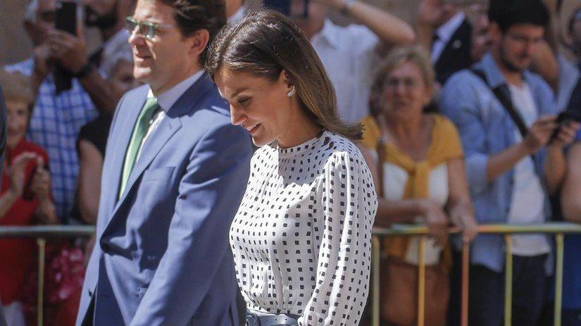 Kráľovná Letizia navštívila univerzitu Salamanca v Salamance.