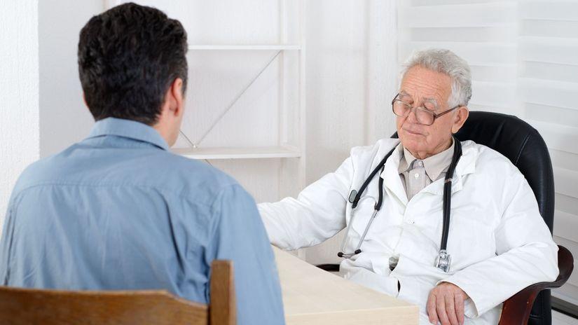 lekár, vyšetrenie, pacient,
