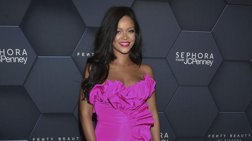 Speváčka Rihanna na akcii v New Yorku.