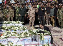 Irán prehliadka útok obete spomienka
