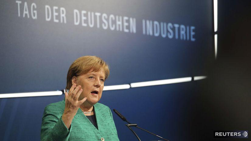 Nemecko Merkelová automobilový priemysel CO2...
