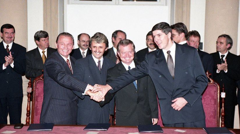Rudolf Schuster, Mikuláš Dzurinda, Jozef Migaš,...