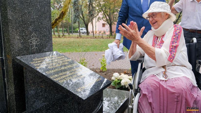 Ľudovít kukorelli, Anna Bergerová, pomník SNP