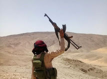 egypt, púšť, zbraň, ozbrojenec, militant, beduín, vojak