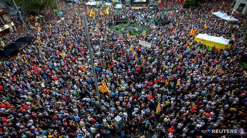 katalánsko, demonštrácia, nezávislosť, španielsko