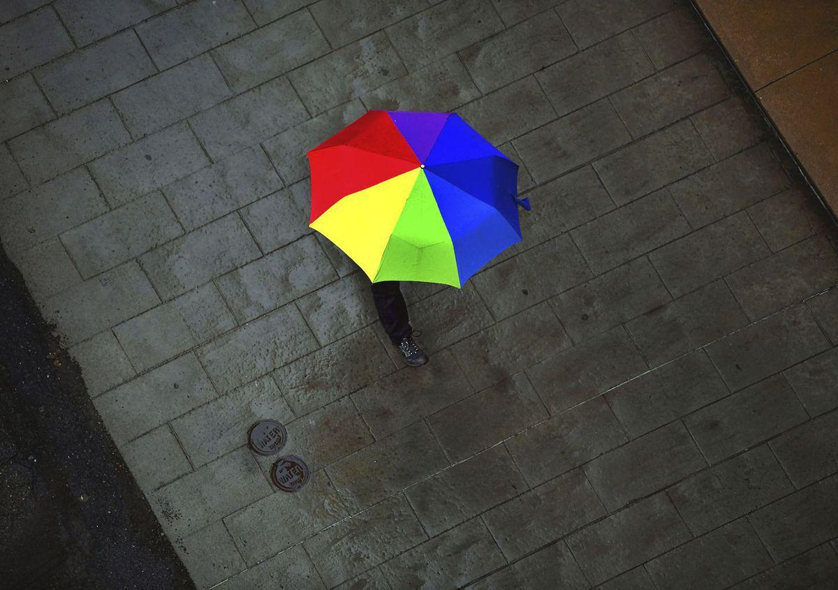 Pennsylvania, dáždnik, dážď, počasie