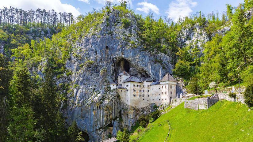 Slovinsko, hrad, Predjama, Postojna