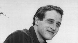 Záber z roku 1956: Herec Paul Newman.