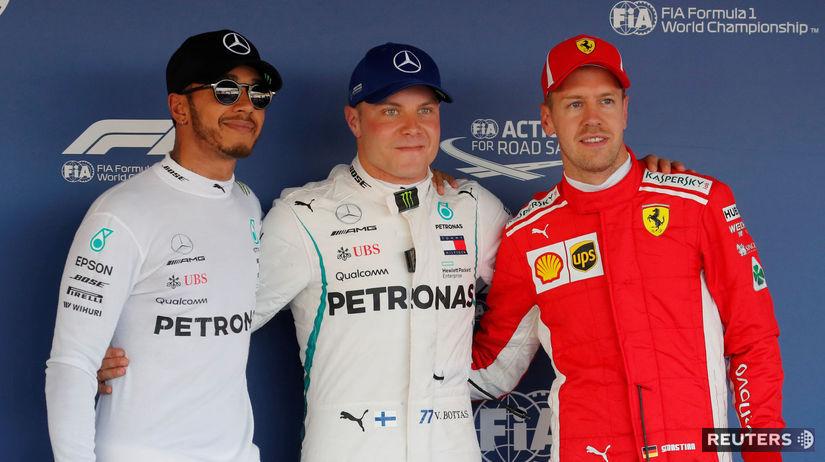Valtteri Bottas, Lewis Hamilton, Sebastian Vettel