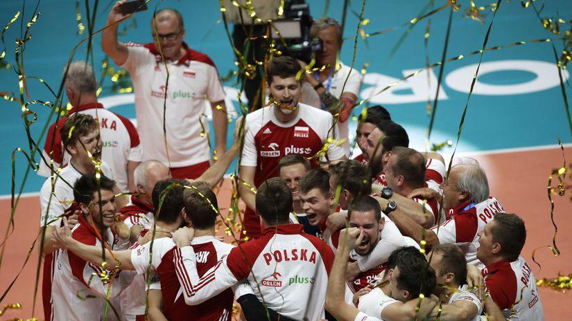 Poľsko, volejbal, radosť