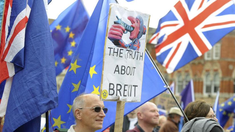 brexit, EÚ, demonštrácia, Veľká Británia