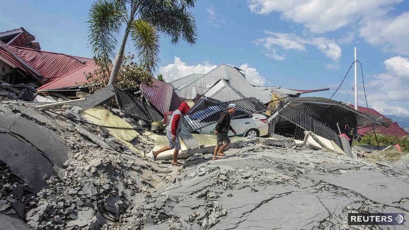 Indonézia Sulawesi zemetrasenie cunami
